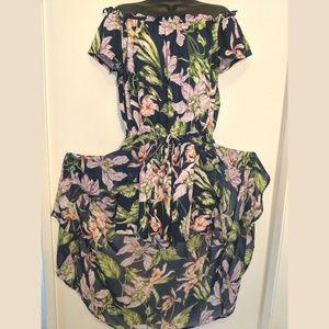 Chiffon Maxi Floral Print Split Front Maxi Dress